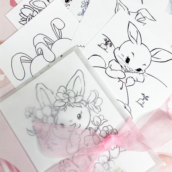 BALLERINA BUNNY BIRTHDAY, GIRL FIRST BIRTHDAY,  COLOURING SET PARTY FAVOUR