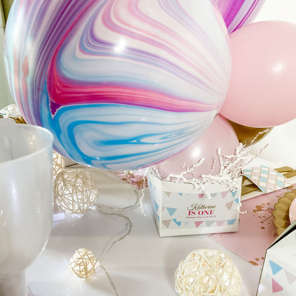 CAROUSEL PASTEL BABY GIRL FIRST BIRTHDAY BALLOON CENTREPIECE