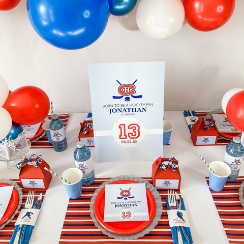 HOCKEY BIRTHDAY BOY PARTY BOX