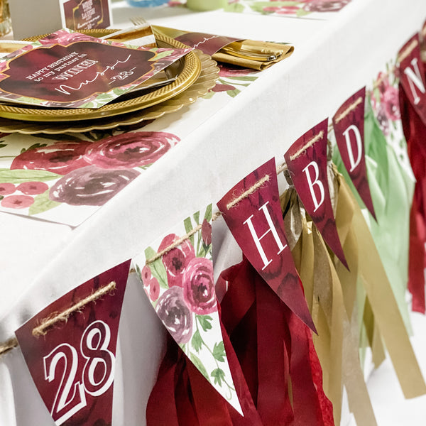 WINE THEME HAPPY BIRTHDAY PARTYBOX
