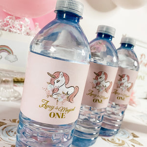 UNICORN MAGICAL FIRST BIRTHDAY WATER BOTTLE WRAP KIT