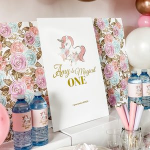 UNICORN BIRTHDAY DESSERT & DRINK STATION BACKDROP SIGNAGE