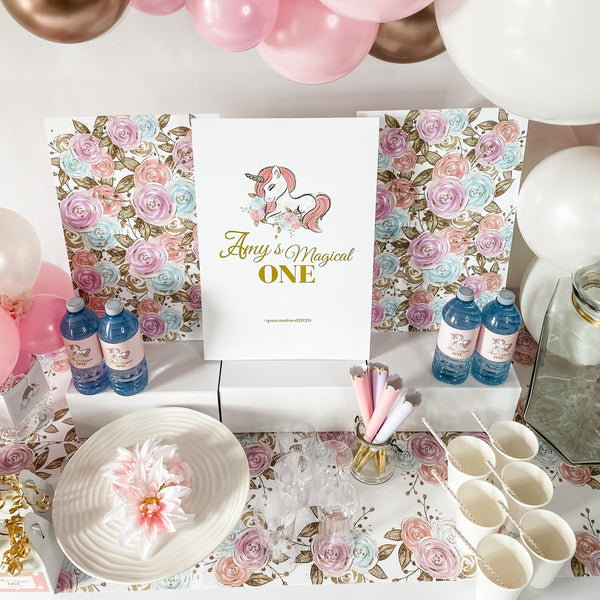 UNICORN BIRTHDAY DESSERT & DRINK STATION PARTY BOX