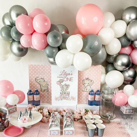 BABY ELEPHANT FIRST BIRTHDAY DESSERT & DRINK STATION PARTY BOX