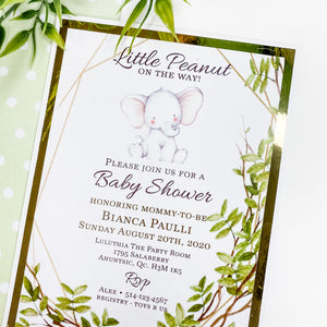 LITTLE PEANUT ON THE WAY - GENDER NEUTRAL MENU CARDS