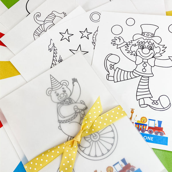 CIRCUS 1ST BIRTHDAY FUN CARNIVAL COLOURING SET