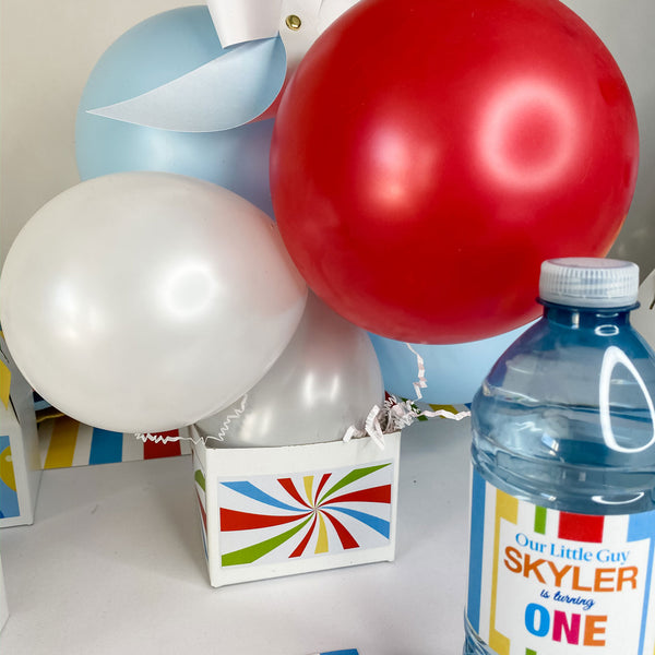 BOLD & BRIGHT COLOUR BIRTHDAY WATER BOTTLE WRAP KIT