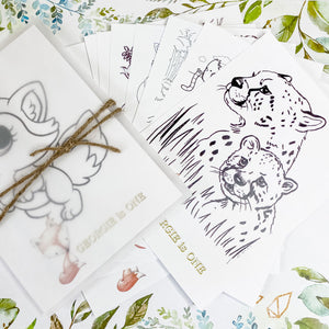 WILD ONE WOODLAND FOX THEME COLOURING SET PARTY FAVOUR