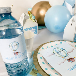 UP UP AND AWAY FIRST BIRTHDAY WATER BOTTLE WRAP KIT