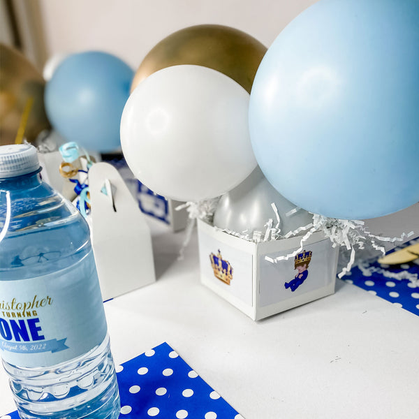 ROYAL LITTLE PRINCE THEME BIRTHDAY WATER BOTTLE WRAP KIT