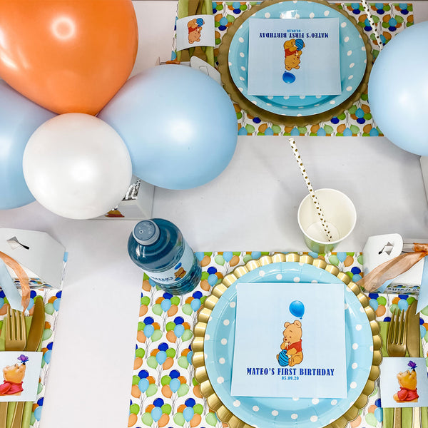 WINNIE THE POOH FIRST BIRTHDAY PERSONALIZED PARTY IN A BOX