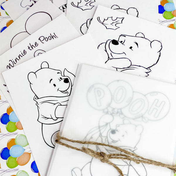 WINNIE THE POOH'S FIRST BIRTHDAY COLOURING SET