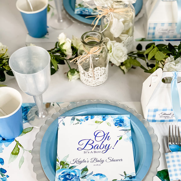 OH BABY -  IT'S A BOY BABY SHOWER PERSONALIZED PARTY IN A BOX