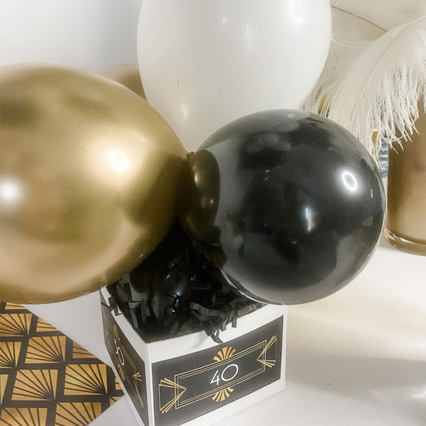 FORTY & FABULOUS GATSBY BALLOON CENTREPIECE