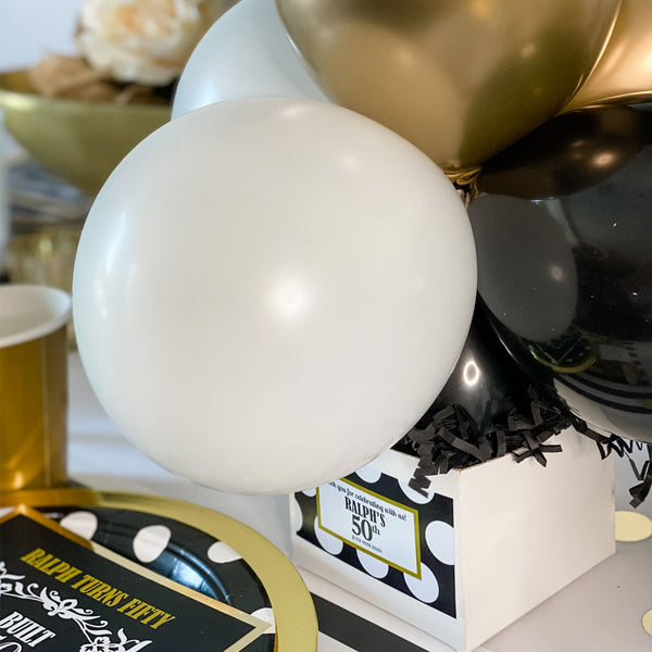 BUILT 50 YEARS AGO … 50TH BIRTHDAY PARTY BALLOON CENTREPIECE FOR TABLE