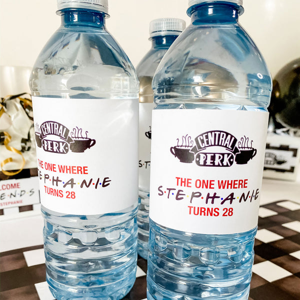 FRIENDS THEME - THE ONE WHERE… WATER BOTTLE WRAP KIT