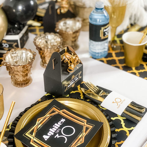 GREAT GATSBY THEME BIRTHDAY PERSONALIZED PARTY IN A BOX