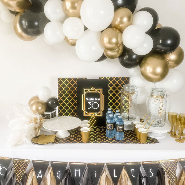 The Great Gatsby roaring 20's … BIRTHDAY PARTY  DESSERT and DRINK station party box for 15 guests