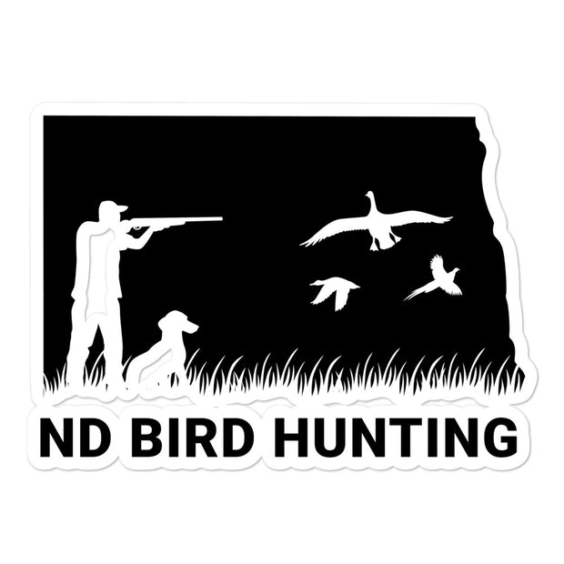ND Bird Hunting Bubble-free stickers