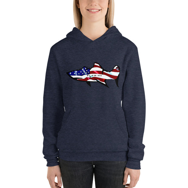 Red, White, and Blue Hoodwink Badge Lightweight Unisex Hoodie