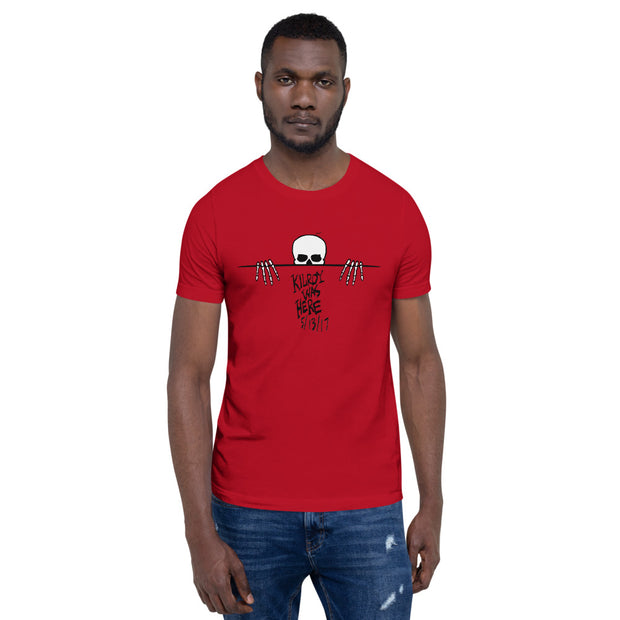 Kilroy Was Here Black Lettering Short-Sleeve Unisex T-Shirt