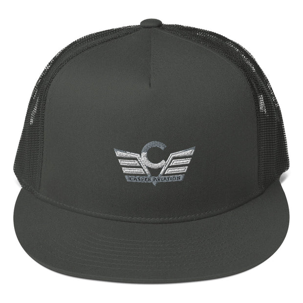 Casper Aviation Flatbill Trucker Cap