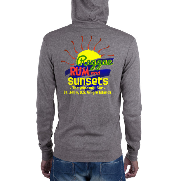 Cruz Bay Music Windmill Bar zip hoodie