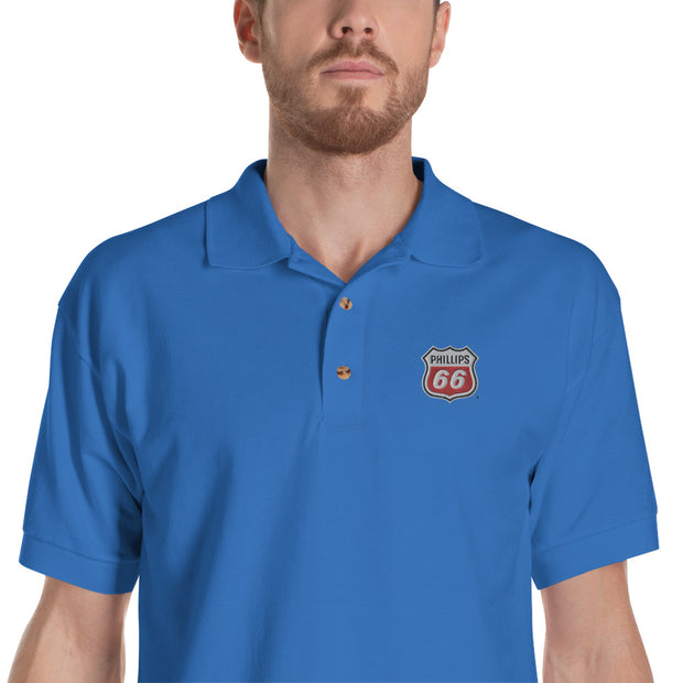 Short Stop Phillips 66 Embroidered Polo Shirt