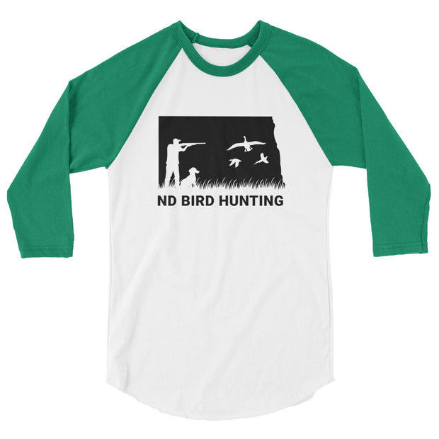 ND Bird Hunting 3/4 sleeve raglan shirt