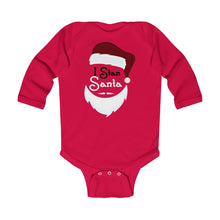 Load image into Gallery viewer, I Stan Santa Head: Infant Long Sleeve Onesie