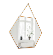 Load image into Gallery viewer, Brass Hexagon Mirror