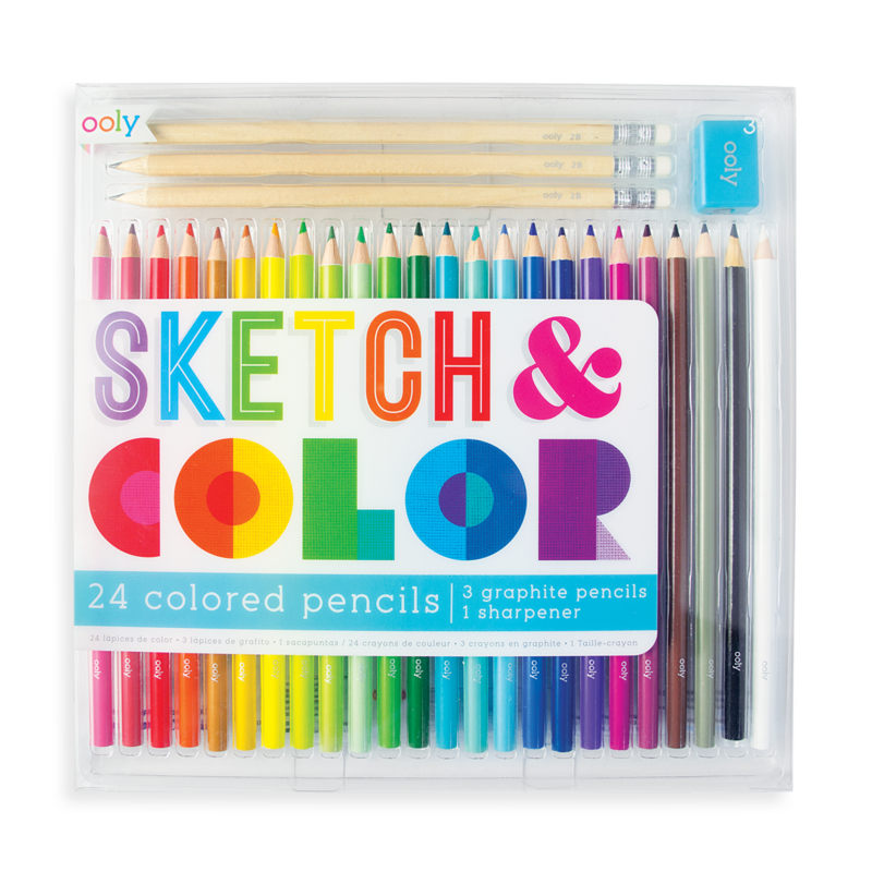 Sketch & Color Set: 28 Pcs.