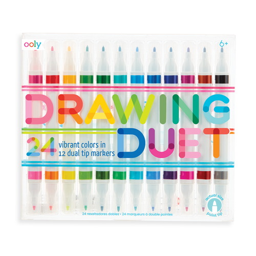 Double Ended Markers: Set of 24 Colors