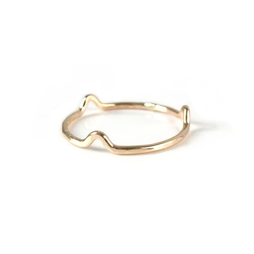 Freeform Stacking Ring: Gold & Silver