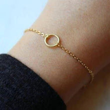 Load image into Gallery viewer, Open Circle Bracelet: Gold + Silver