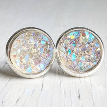Load image into Gallery viewer, Round Druzy Studs: Multiple Colors