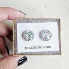 Load image into Gallery viewer, Glitter Bubble Studs: Gold + Silver