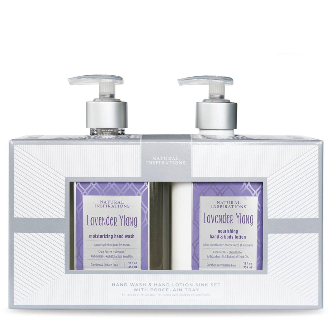 Hand Wash & Lotion Sink Set w/ Porcelain Tray: Multiple Scents!