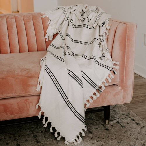 Turkish Throw Blanket - Three Stripe