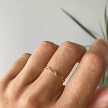 Load image into Gallery viewer, Ripple Stacking Ring: Gold & Silver