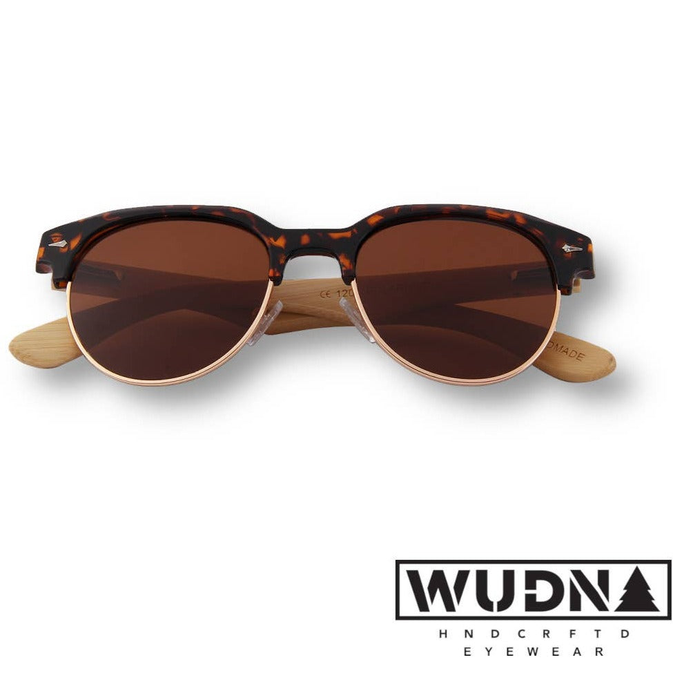 Women's Tortoise Frame RetroShades- Real Wood Sunglasses