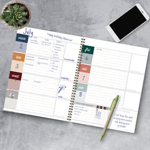 Load image into Gallery viewer, Undated Large Weekly + Monthly Spiral Planner