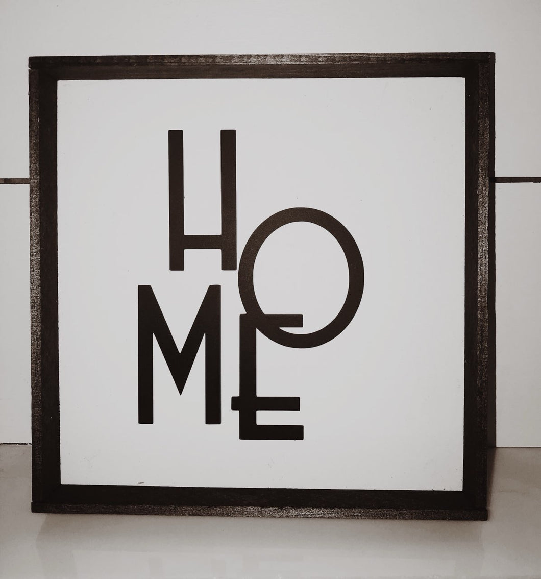 Abstract Home Sign- 10x10