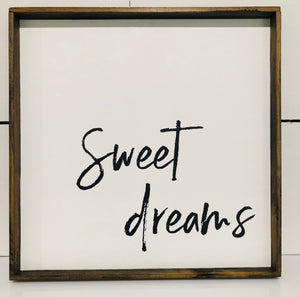 Sweet Dreams Sign- 12x12