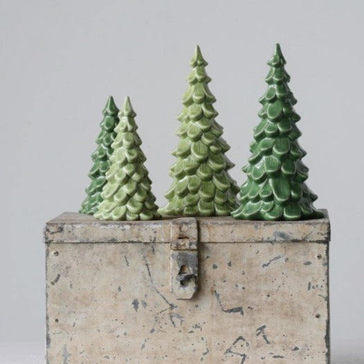 Stoneware Evergreen Trees