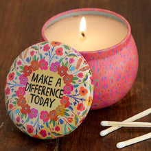 Load image into Gallery viewer, Quote Candle Tins: 2 Sizes