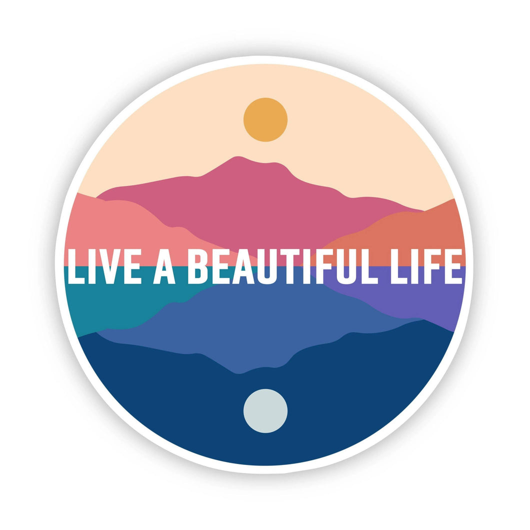 Live a Beautiful Life Scenery Sticker