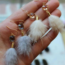 Load image into Gallery viewer, Faux Fur Tassel Earrings: Multiple Colors