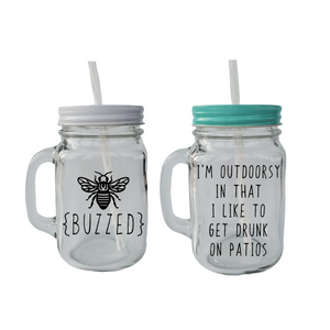 Mason Jar Mug with Sayings