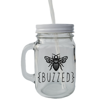 Load image into Gallery viewer, Mason Jar Mug with Sayings